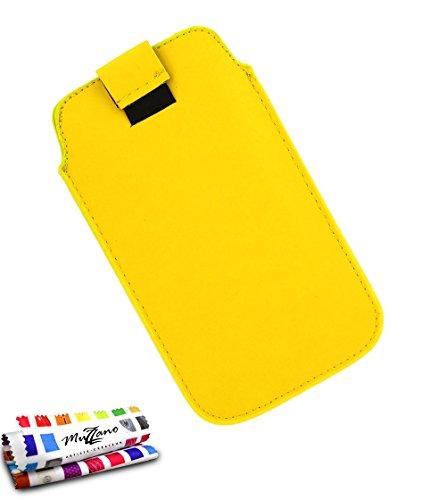 Custodia Nokia Lumia 520[il Sweep] [Giallo] di MUZZANO + Pennino e Panno Muzzano offerti–La protezione antiurto Ultime, protezione anti-urto elegante e duratura per il vostro Nokia Lumia 520