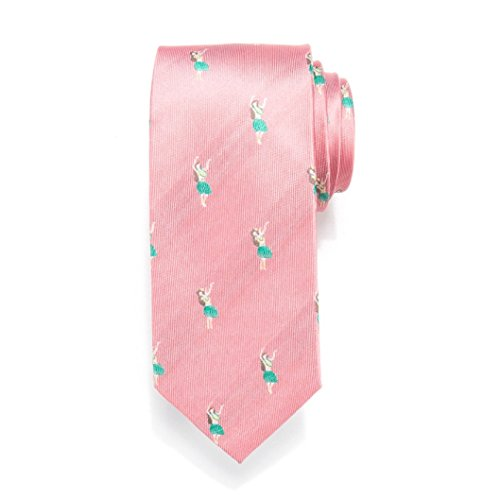 Men's Chaps Stretch Patterned Tie (Coral Aloha)