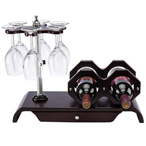Bastidores de vino, vino del estante del negocio de madera sólida estante del vino vino creativo europeo bastidor autoportante Contador vino del cubilete de cristal de almacenamiento en rack rack gabi
