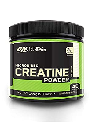 Optimum Nutrition Micronised Creatine Powder, Unflavoured Monohydrate Powder for Muscle Growth, 40 Servings, 144 g