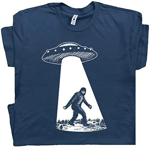 Bigfoot UFO Abduction T Shirt Funny T Shirt Sasquatch Aliens Tee Cryptozoology Area 51 Flying Saucer