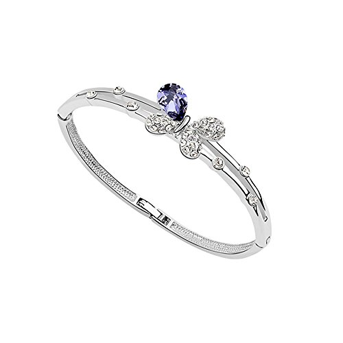 Blue Pearls LAGERABBAU - Schmetterlings-Armband mit violetten kristall Swarovski Elements PDC BR2