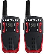 CRAFTSMAN 16-Mile Long Range Walkie Talkies for Adults - Rechargeable Two Way Radios with VOX - CMXZRAZF118 (2 Pack)