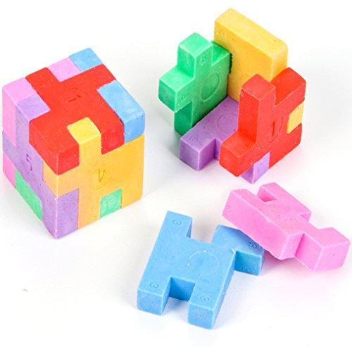 Puzzle Cube Erasers - 12 per unit