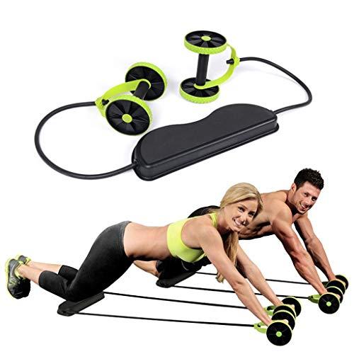 BSGP 1 x Bauch-Roller, Doppel-Roller, leicht zu greifende Griffe, Core Training, Bauchtraining, Physikalisches Übungswerkzeug