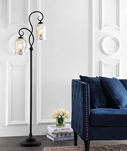 Safavieh FLL4058A Claudia Black 63.5-inch 2-Light (LED Bulbs Included) Floor Lamp