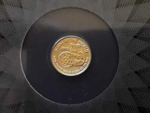 icons of the world kleinste sammlermünze Panda nur 9 mm Durchmesser! + SAMMELALBUM 2015 Gold 1/200 Unze