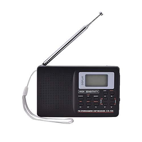 Power Banks draagbare radio, SW/LW/TV/FM/AM/geluid, volfrequente ontvanger, die op batterijen werkende reistransistorradio-stereo-ontvanger ontvangt.