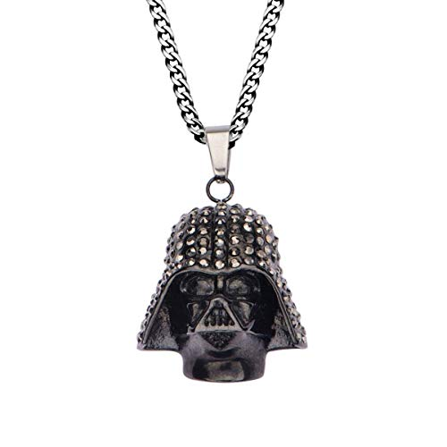 Star Wars Darth Vader with Clear Gem Anhänger Halskette