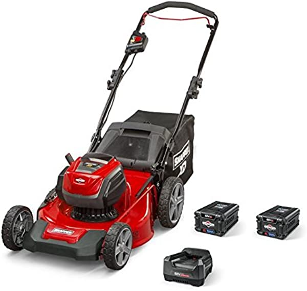 Snapper XD 82V MAX Electric Cordless 21 Inch Lawnmower Kit With 2 2 0 Batteries 1 Rapid Charger 1687884 SXDWM82K