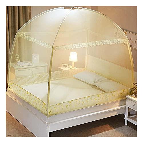 Meet World Pop Up Moskitonetz, tragbares Zelt Reise DREI Tür Reißverschluss Bett Netz, einfache Installation und feines Netz, perfekt für Schlafzimmer im Freien ,3,120*20OCM
