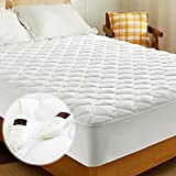 Heated Mattress Pad Queen Size Electric Mattress Pads Electric Bed Warmer Fit up to 21' with 8 Heat Settings Dual Controller 10 Hours Auto Shut Off