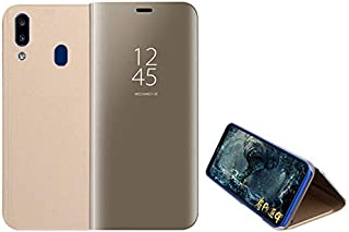 For Oppo Realme 3 pro Clear View Standing mirror With Out Sensor Not Smart Cover - Gold