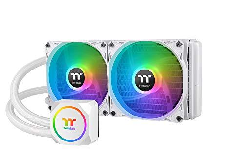 Thermaltake TH240 ARGB Sync Snow Edition 簡易水冷CPUクーラー ARGBファン搭載 240mm CL-W301-PL12SW-A F...