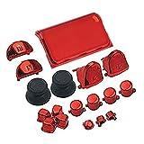 Gotor PS4 PRO コントローラー 交換用 ボタン キーキット フルボタン プレイステーション4 PRO 対応用 LR AB ボタンDパッドクロスキーキット 修理部品 (Red)
