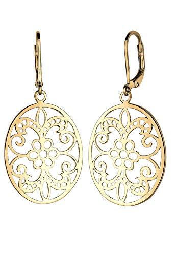 Elli Ohrringe Damen Ornament Floral in 925 Sterling Silber