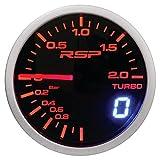 SUMEX MID737658 Indicador de presión Turbo Race Sport Perfomance 52mm de diámetro. Reloj con iluminación led Blanca/roja-Ambar Modo día/Noche. Indicación con Aguja analógica y con Display Digital