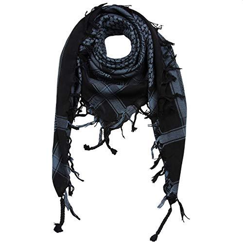 Superfreak Palituch - schwarz - grau-blau dunkel - 100x100 cm - Pali Palästinenser Arafat Tuch - 100% Baumwolle