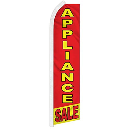 Appliance Sale Swooper Feather Advertising Flag - Perfect for Home Improvement Stores, Appliance Stores