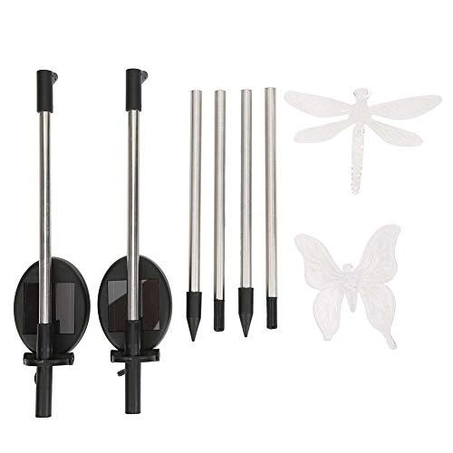 TAKE FANS 2 unids/set hermoso animal libélula en forma de luz LED solar que cambia de color jardín césped tierra estaca luz