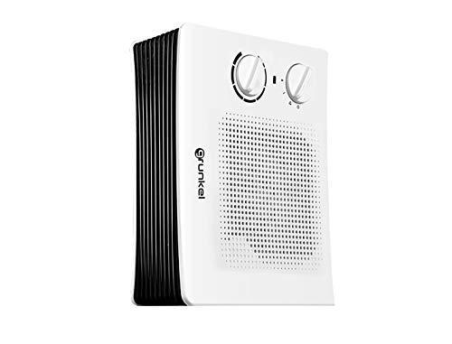 Grunkel - CAR-20 Giro - Calefactor de Aire con Potencia de 2000W, Calor Regulable y eficiente. Calentador Reversible Horizontal y Vertical Ideal para baño y Oficina - 2000W - Blanco