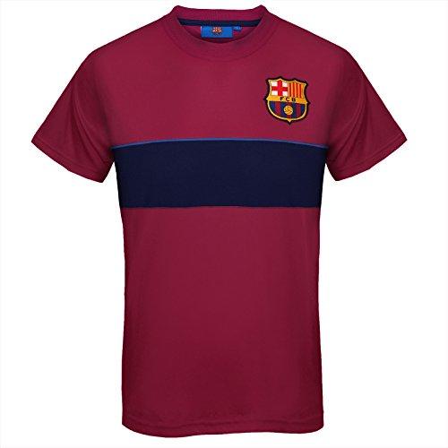 FC Barcelona officiel - T-shirt pour entrainement de football - polyester - homme - Rouge à rayures - Medium