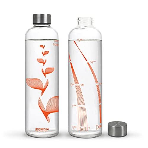 drinkitnow Trinkflasche 1 Liter Flipper Orange