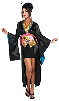 Rubie s Geisha Kimono With Skirt Corset and Hair Sticks Multicolor Small Costume