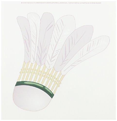 3dRose LLC Big White Badminton-Federball, 20,3 x 20,3 cm, zum Aufbügeln, für weißes Material