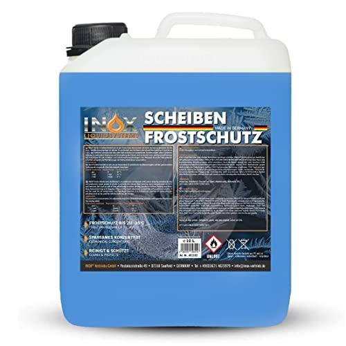 INOX® Arctic Scheibenfrostschutz Konzentrat - 10L - Auto Frostschutzmittel Scheibenwaschanlage - Scheibenwischwasser bis -35°C - schlierenfrei - sofort mischbereit – Citrusduft