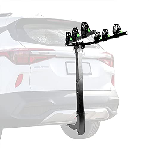 Outdoor Cycling Bike Rack Trunk Mount,travel Tow Bar Bike Rack 3 Bikes, Car Trunk Bike Rack with Tilting Design, Easy to Open the Trunk for Cars, Trucks, Suv's and Minivans(black)