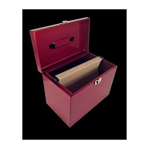 Pierre Henry Caja de almacenaje con 5 Carpetas para Colgar, Color Rojo rubí nacarado