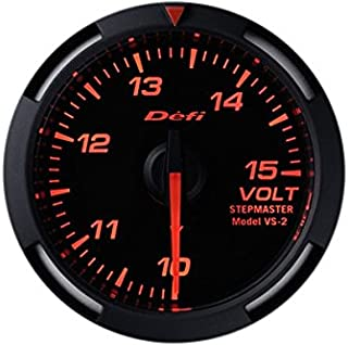 Defi DF07005 Racer Voltage Gauge, Red, 52mm
