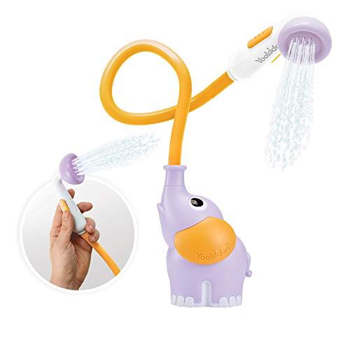 Yookidoo Ducha para bañera bebé - Juguete de Baño Elefante Lila