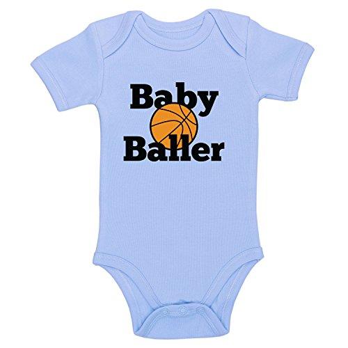 DKISEE Unisex Baby Body Baby Baller Blau Funny Infant Strampler Kurzarm Baby Onesie 18 Monate