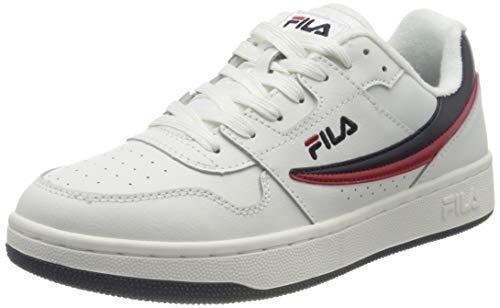 FILA Arcade men Sneaker Uomo, Bianco (White/Fila Navy/Fila Red), 44 EU