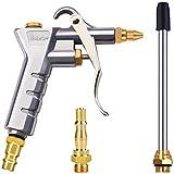 Astarye Pistola de Soplado Herramienta de Aire Comprimido con Boquilla de Extensión+1/4'NPT y 1/4' BSP Conector de Accesorio de Aire Comprimido de Pistola para Herramienta de Limpieza de Coches