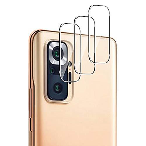 GEEMEE für Xiaomi Redmi Note 10 Pro Kamera Panzerglas Schutzfolie, HD-Klar 9H Filmhärte Gehärtetem Anti-Kratzen Displayfolie Kameraschutz- 3 Pack(Transparent