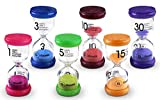 Goodii Timer, 6 Colors Hourglass Sand Timers for kids in Gaming Times,Hour glass for Classroom, Home, Kitchen, Office Decor. Timer 1/3/5/10/15/30 Minutes, (Pack of 6)