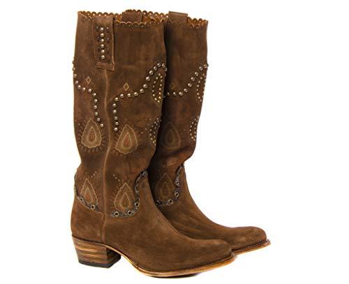 Sendra Boots Botas Western 11975 Debora Softy Delave con TACHAS MARRÓN 36