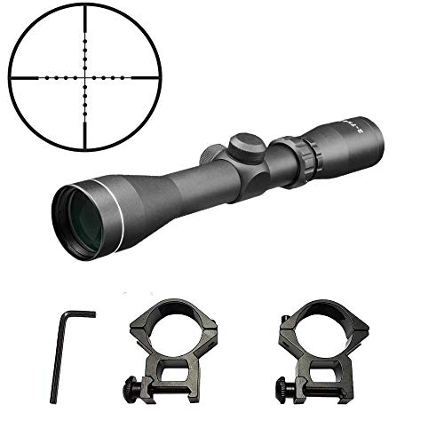 Persei 2-7x42 Long Eye Relief Scope Mil-dot Reticle 30mm Tube Diameter Fits Mosin Nagant 1891/30 M39 with Mount Rings Tactical Rifle Scope