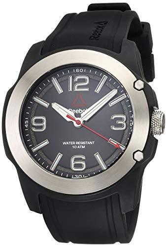REEBOK 300CT Black Men Watch, 47 mm case, Black face, Carbon Fiber case, Warrior Black Silicone Strap, Warrior Black dial (RD-3CT-G2-PBIB-B4)