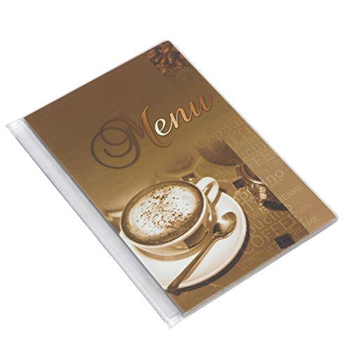DIN A5 Motiv Speisekarte Menükarte Kaffee Milch motiv 6 Folien Caffee
