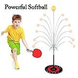 Ellyeall Tischtennis-Set Freizeit Dekomprimierung Sport-Elastische Weiche Welle Selbsttrainingsball Anti-Myopie Anti-Rollover-Personal