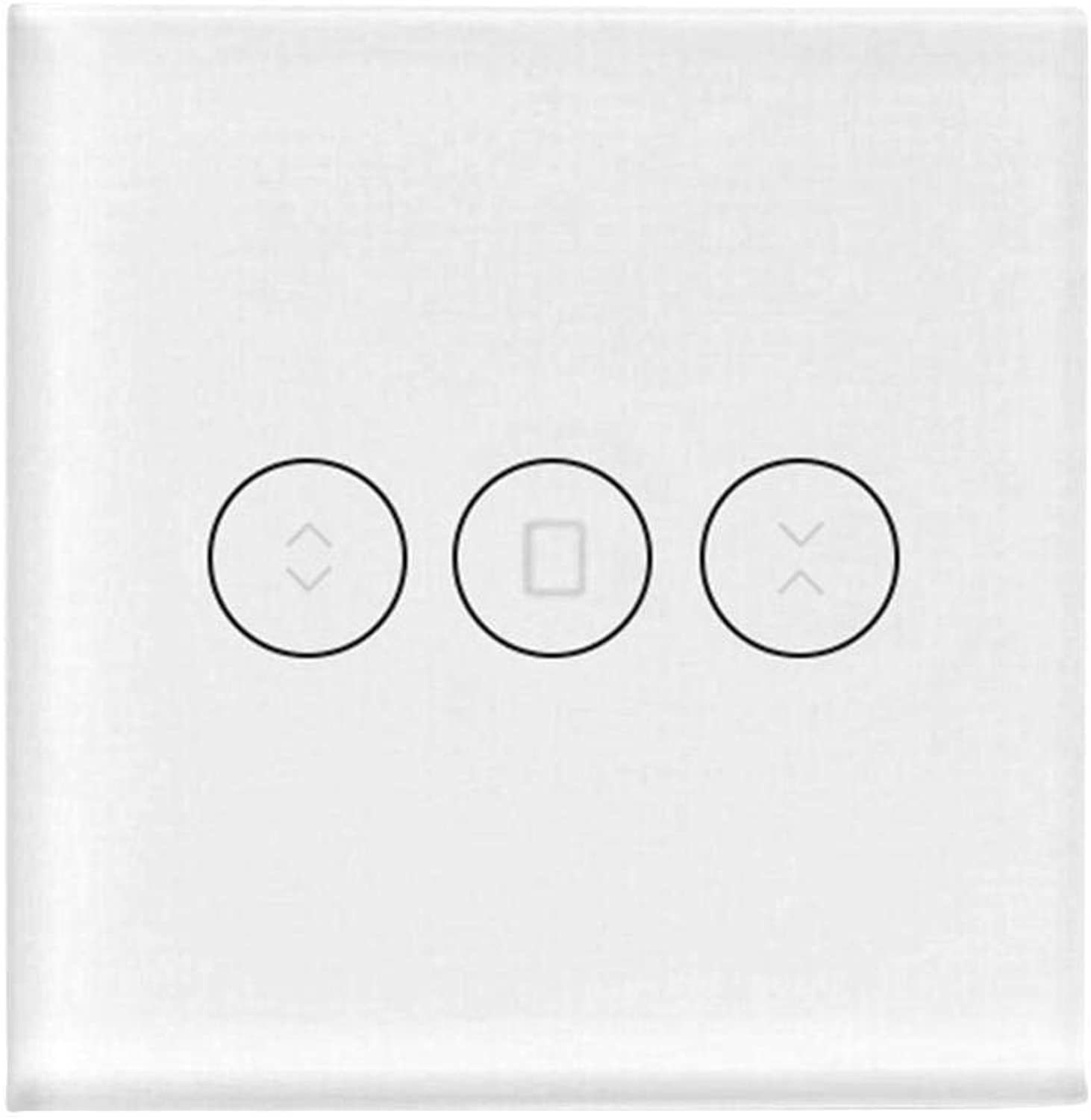 LanLan WiFi Smart Wall Curtain Switch with Alexa GoogleHome IFTTT Voice Control System European Regulation(Standard  EU Standard)