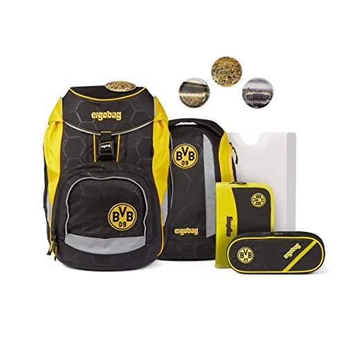 ergobag Pack Fußball Schulrucksack Set 6-tlg. Borussia Dortmund