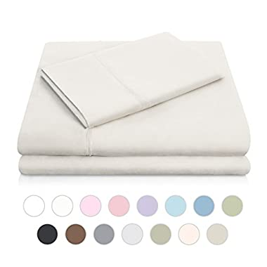 MALOUF Double Brushed Microfiber Super Soft Luxury Bed Sheet Set - Wrinkle Resistant - Queen Size - Driftwood