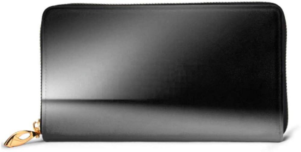 Fashion Handbag Zipper Wallet Perspective Floor Backdrop Black Room Studio Phone Clutch Purse Evening Clutch Blocking Leather Wallet Multi Card Org