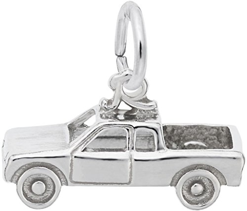 Rembrandt Pickup Truck Charm - Metal - Sterling Silver