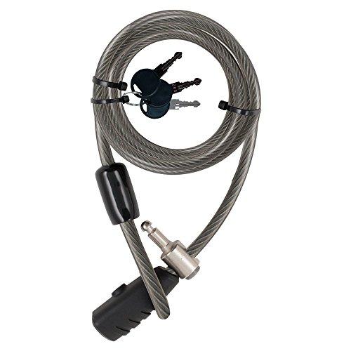 STANLEY Family Key Cable Fahrradschloss extra lang, 12 mm x 2400 mm, 3 Schlüssel, S741-163, Kabelschloss mit Schlüssel, Fahrradschloss mit Schlüssel für 2 Fahrräder